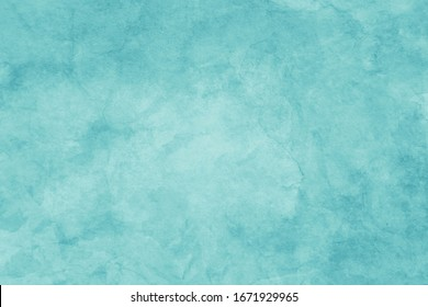 Blue green background texture with old distressed vintage texture, pastel blue paper with watercolor painted grunge in elegant faded banner design