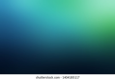 Blue green black gradient abstract texture. Mystery night blurred background. Low light and deep shade pattern. Secret defocus illustration.