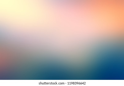 Blue green pink yellow defocus ombre pattern. Light and shadow blurred background. Natural abstract texture.
