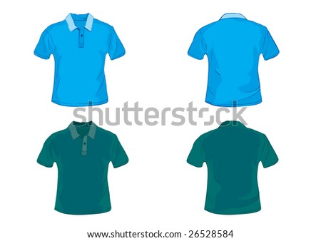 f54896e0 Blue Green Polo Shirt Design Template Stock Illustration - Royalty ...