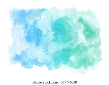 blue and green watercolor texture
