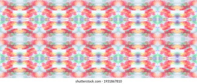 Blue, Grey, Red Pastel Fun Rectangle Ikat Rapport. Ethnic Seamless Pattern. Kilim Rug Random Texture.  Paintbrush Aztec Background.  Watercolor Ethnic Design.  Chevron Geometric Swimwear Pattern.