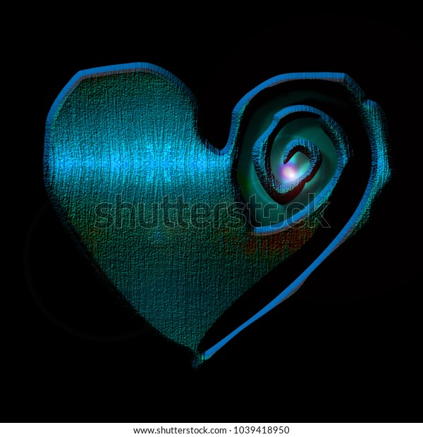 A blue heart on black background. The heart appears to have a glowing center representing renewal or reviving.