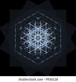 Blue Hypercube (abstract)