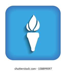 Blue icon with the image of the torch