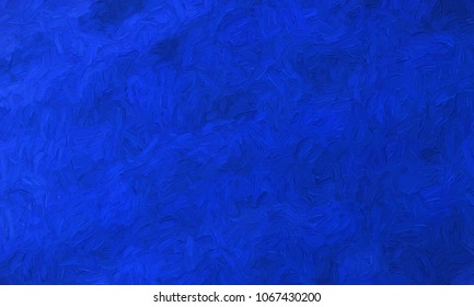 blue impasto canvas - CG image
