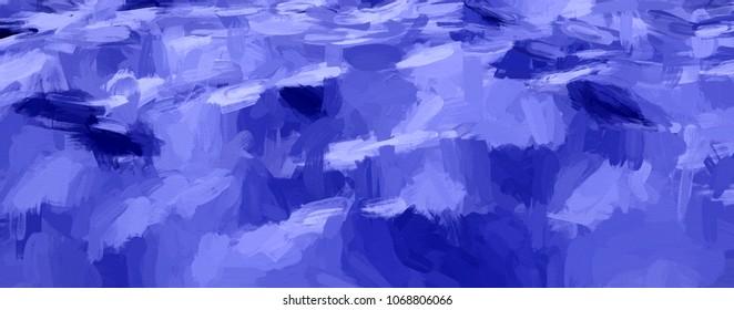 blue impasto drawing - CG image