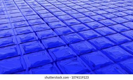 blue impasto tiles - CG image