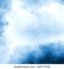 blue ink or watercolor - abstract background