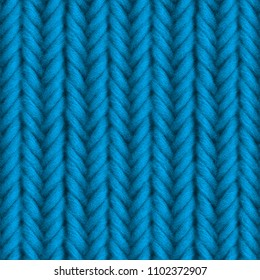 Blue knitted seamless texture