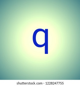 blue letters small