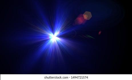 Blue light glow lense flare