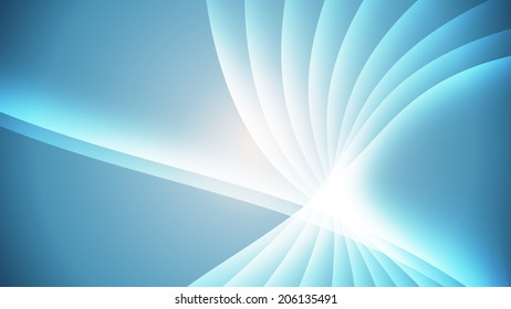 Blue Light Wave in radial motion Abstract Background(16:9 aspect)