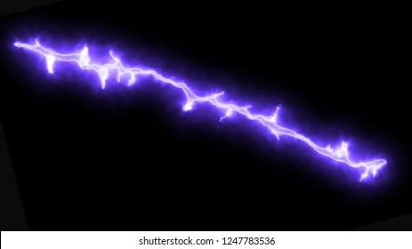 blue lighting bolt illustration on dark
