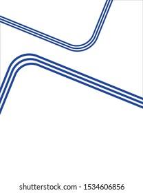 Blue line art background. Color creative letterhead design.  Cover, brochure, flyer template design with abstract background. Jpeg illustration