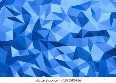 blauer, Low-Poly-Dreieckshintergrund mit Kürbis, 3D-Rendering