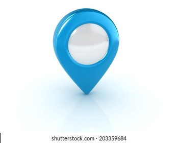 blue map pointer isolated illustration