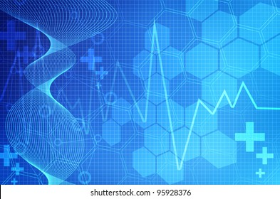Blue Medical abstract background