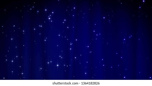 Blue Merry Christmas background with stars. Luxury walpaper for the day of St. Valentine day