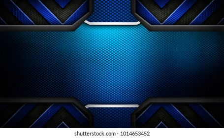 blue metal design background