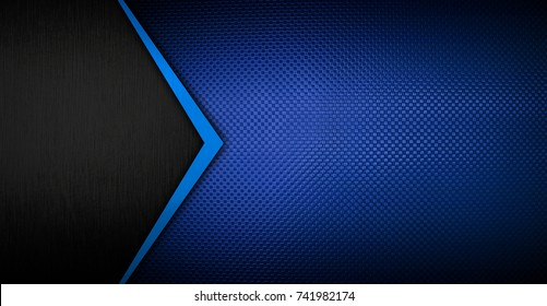blue metal pattern background