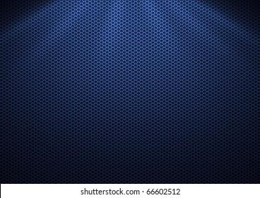 Blue Metal Plating & light ray