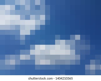 Blue mosaic rectangle pattern emty blank template design element decorative squared background