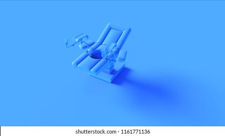 Blue Obstetrics Gynecological Chair 3d illustration