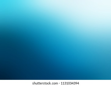 Blue ombre pattern. Cold sea water empty blurred background. Abstract texture. Defocused template.