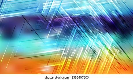 Blue and Orange Asymmetric Random Lines Background