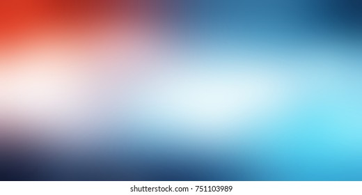 Blue orange vignette empty banner. Sky defocused background. Heaven abstract illustration. Watercolor blurred texture.