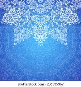 Retro Vintage Wedding Greeting Card Blue Illustration De Stock De