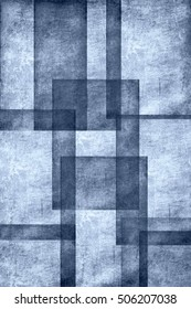 Blue overlapping squares textured as retro background.