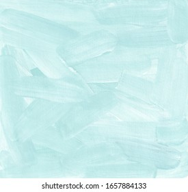 Blue painted background.  Сhaotic brush strokes