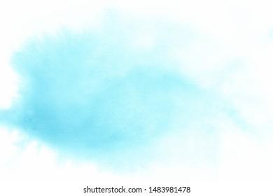 Blue pastel watercolor paint background.
