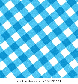 blue picnic cloth with some squares in it