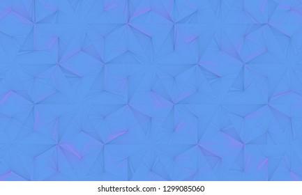 Blue / Pink Geometrical Background (3D Illustration)