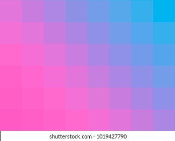 Blue and pink pixels gradient