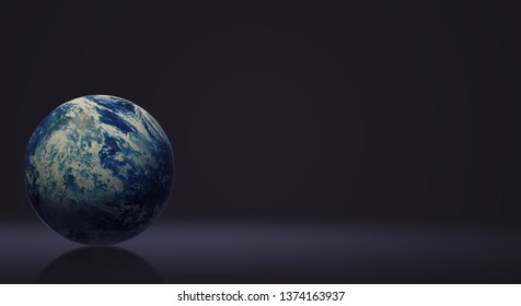 The blue planet 3d rendering  for earth day and  eco content.