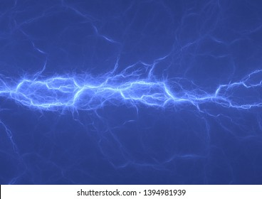 Blue plasma, abstract power and electrical background