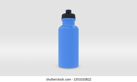 Blue Plastic Squeeze Bottle for Souvenir and Product Mockup Isolated on Studio or Infinite Background (3D rendering)