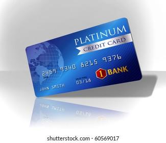 Blue platinum credit card