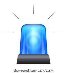Blue police flasher icon. Cartoon of blue police flasher icon for web design isolated on white background