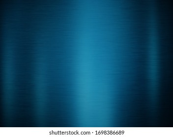 Blue polished metal background or texture