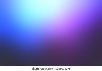 Blue, purple, black gradient pattern. Magic light defocused illustration. Wonderful night sky empty background. Cosmic abstract texture. Mystery blurred template.
