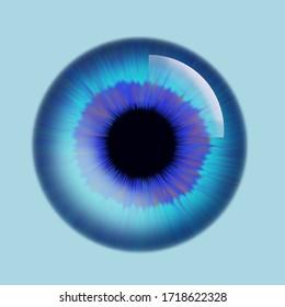 Blue and purple eye iris