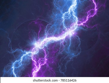 Blue and purple lightning background,electrical abstract