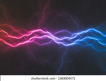 Blue and purple plasma, abstract electrical background