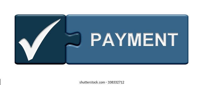blue Puzzle Button with hook symbol showing Payment