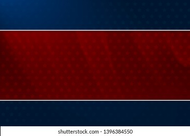 Blue and red background with red stars and soft blurred surfaces for the 4th of July Memorial Day; And other patriotic holidays
